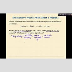 Ap Chemistry Stoichiometry Worksheet 1 Problem 1 Youtube