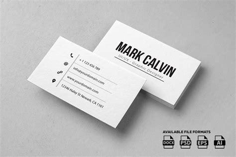 simple minimal business card templates