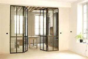 Verriere Interieure Metallique : verri re int rieure double portes les ateliers du 4 ~ Premium-room.com Idées de Décoration