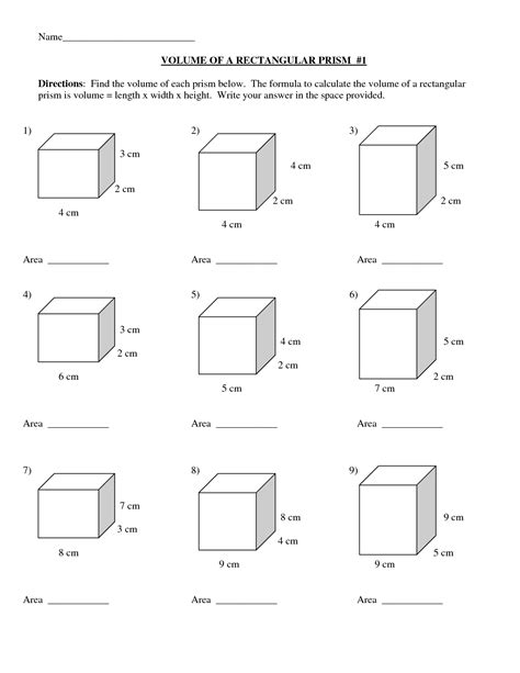 volume of rectangular prism worksheets 6th grade id 13
