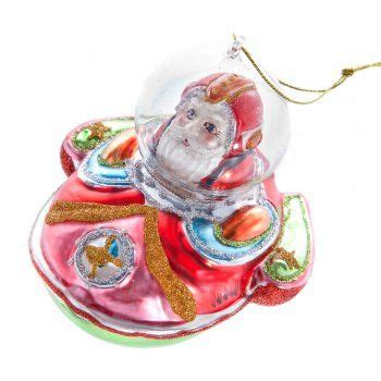 gisela graham christmas painted glass santa spaceship