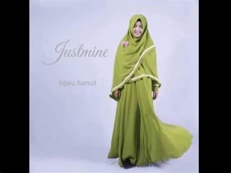 hijab syari adzkia justmine hijau lumut youtube