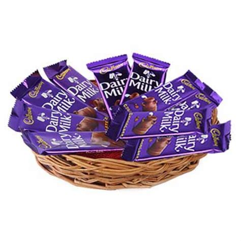 dairy milk basket hamper chocolates   gift