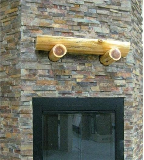 fireplace ledgestone stacked slate traditional