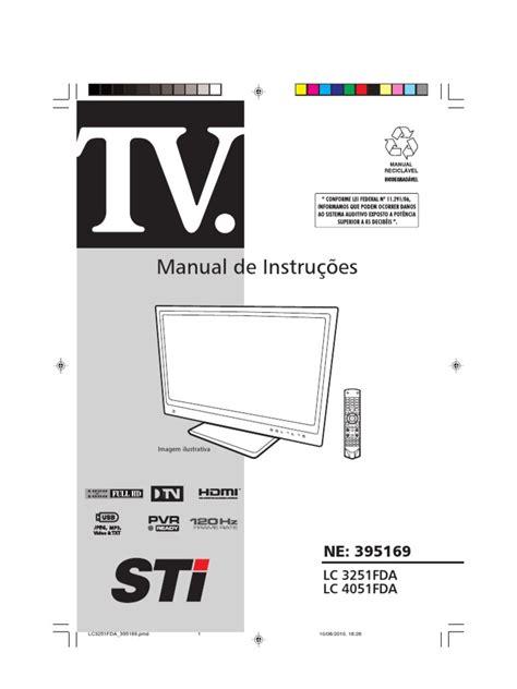 Manual TV Led 32 Semp Toshiba Hdmi Digital Television