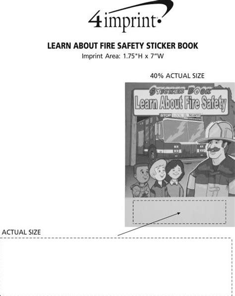 4imprintcom Learn About Fire Safety Sticker Book 105854fs