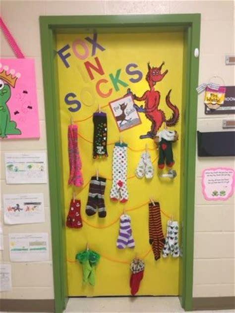 dr seuss classroom door fox in socks read across america dr seuss tongue