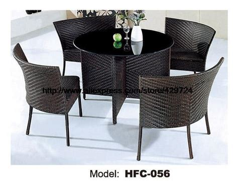 low price rattan furniture 1m garden rattan table 4 chairs