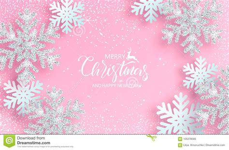 Silver Pink Snowflake Background by Background With Shiny Silver Snowflakes On Pink