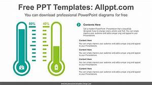 Thermometer Charts Powerpoint Diagram For Free