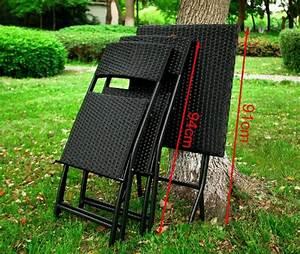 Table De Jardin Tressé : sobuy ogt02 lot de 1 table 2 chaises pliable salon de jardin ensembl ~ Teatrodelosmanantiales.com Idées de Décoration
