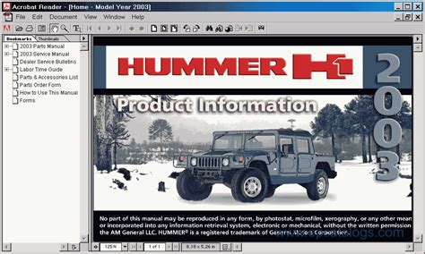 free online auto service manuals 1999 hummer h1 regenerative braking hummer h1 2003 electronic spare parts catalogue