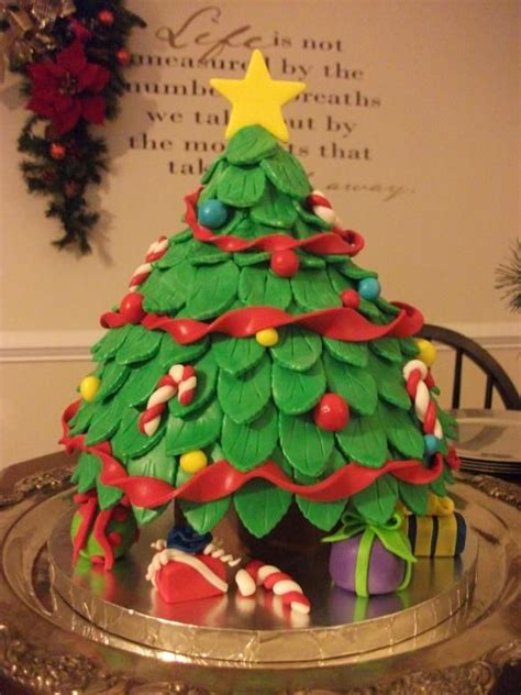 oh christmas tree cake cakes pinterest