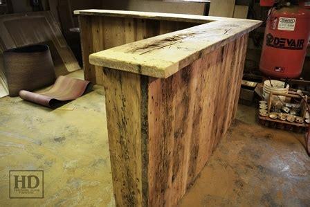 reclaimed wood reception desk custom reclaimed wood reception desk in kitchener office 4536