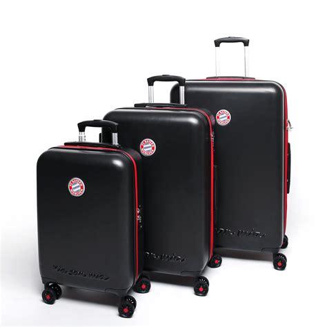 koffer kaufen münchen fu 223 bundesliga fc bayern m 252 nchen 4 rollen trolley koffer set s m l schwarz jetzt auf