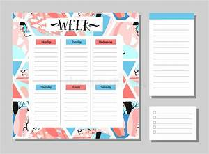 Free Weekly Planner Pages Cute Calendar Daily And Weekly Planner Template Stock