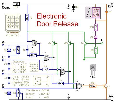 electronic door release circuit