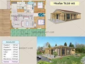 plan de petite maison moderne maison francois fabie With plan petite maison 2 chambres