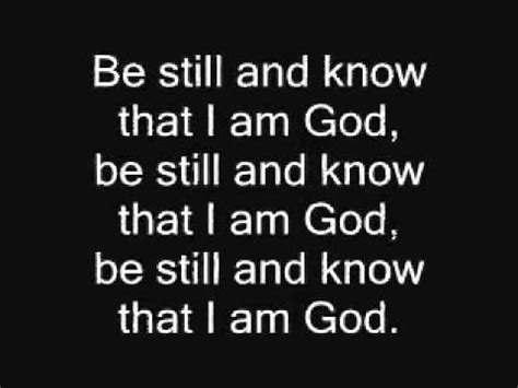 Stand Chords by Be Still And Know That I Am God Hymn Lyrics And Chords