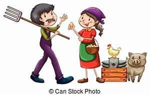 A farmer and a vendor - A farmer with a rake and a vendor...