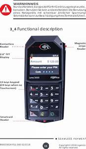 Ingenico Lane3000cl Standalone Payment Terminal User