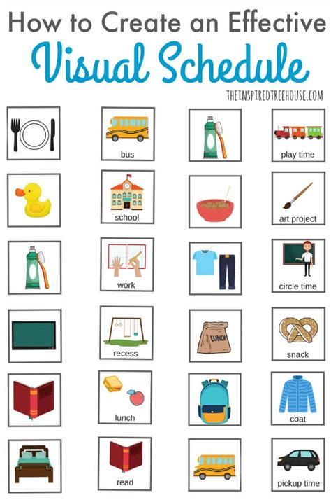 visual schedule how to make a visual schedule the inspired treehouse
