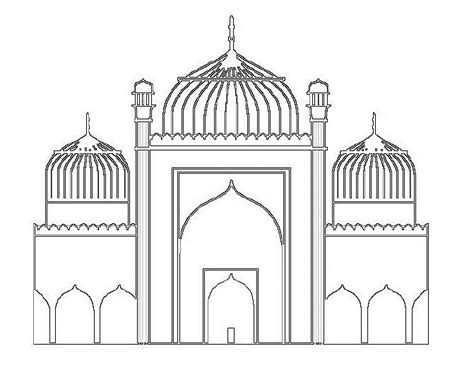 Building The Temple Coloring Pages Mosque Coloring Pages Coloring Pages