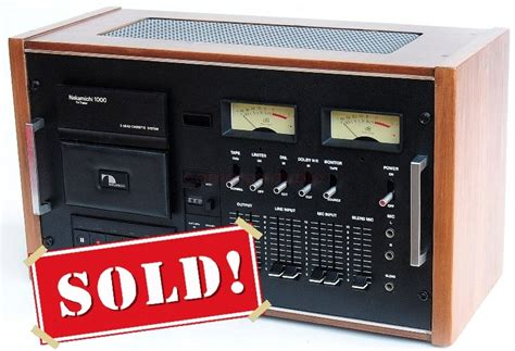 Nakamichi 1000 Cassette Deck by Nakamichi 1000 Tri Tracer Cassette Deck Camaross Audio