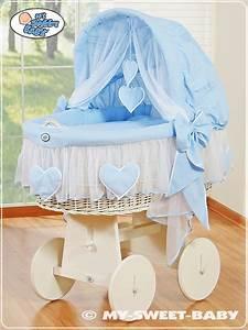 Bezug Für Stubenwagen : my sweet baby luxus stubenwagen bollerwagen herzchen xxxl blau mit moskitonetz ebay ~ Whattoseeinmadrid.com Haus und Dekorationen