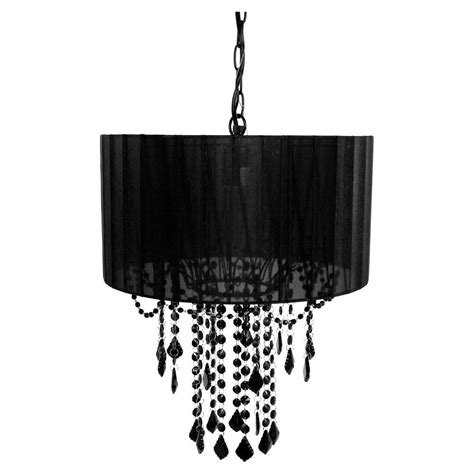 Black Chandelier Shade by Tadpoles 1 Light Black Chandelier Shade Cchash020 The