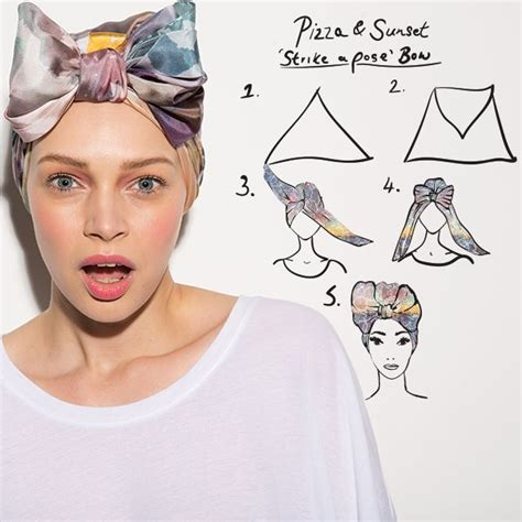 strike  pose bow headwrap turban hair stuff