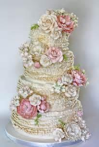 gorgeous wedding cakes ruffled wedding cake ruffled wedding cake wedding cakes photos brides