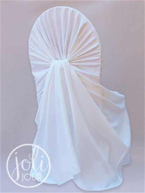 location housse chaise mariage location housses de chaise blanches avec effet drapé