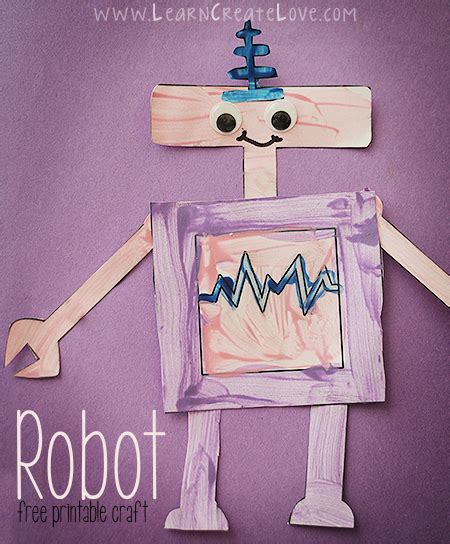 robot themed printables  crafts homeschool giveaways
