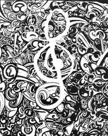 Adult Music Coloring Page