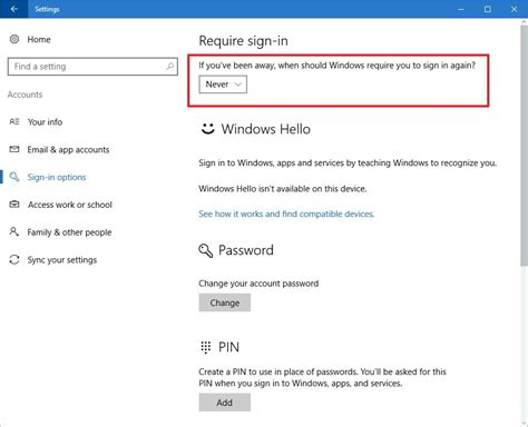 Desktop Resume Sleep by How To Stop Windows 10 Asking Password When Resuming From Sleep