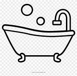 Bathtub Tub Coloring Outstanding Fun Clipart Line Pikpng Complaint Copyright sketch template