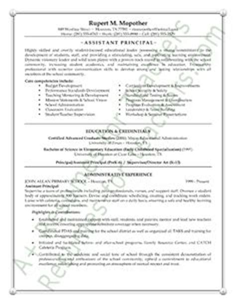 entry level assistant principal resume templates