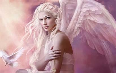 Angel Wallpapers Blonde Desktop Pink Angle Amazing