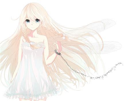 blonde hair blue eyes braids chain dress ia long hair ren