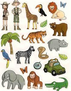 gommettes animaux de la jungle 16x21cm magommette