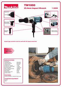 Download Free Pdf For Makita Tw1000 Impact Wrench Other Manual