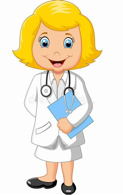 Doctor Cartoon Sign Holding Blank Illustration Vector