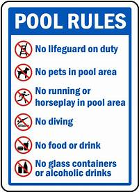 pool rules sign Pool Rules Sign F6964 - by SafetySign.com