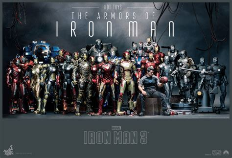 hot toys' the armors of iron man plastic and plush