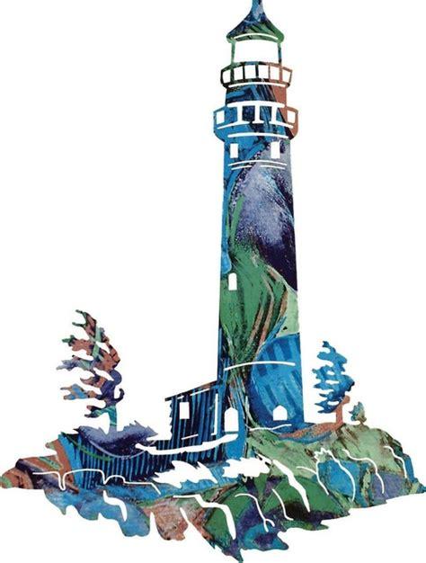 coastal winds lighthouse metal wall art rustic artwork