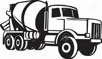 Mixer Cement Clipart Truck Clip Cliparts Concrete