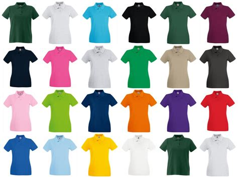 SS89 Fruit of the Loom Lady-Fit Premium Cotton Pique Polo ...