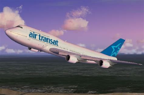 boeing 747 300 air transat avions scenery panels fs2004 l aviation les simulateur de vols
