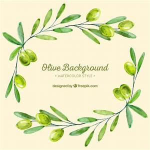 Fondo de ramas de olivo en tonos verdes Descargar Vectores gratis